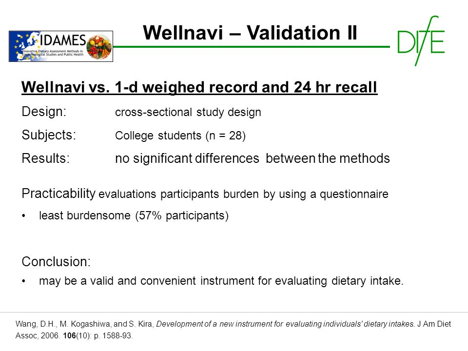 Wellnavi – Validation II Wang, D.H., M.Kogashiwa, and S.