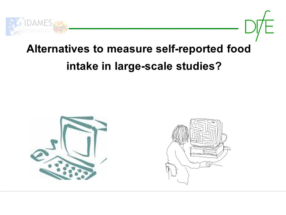 Alternatives to measure self-reported food intake in large-scale studies