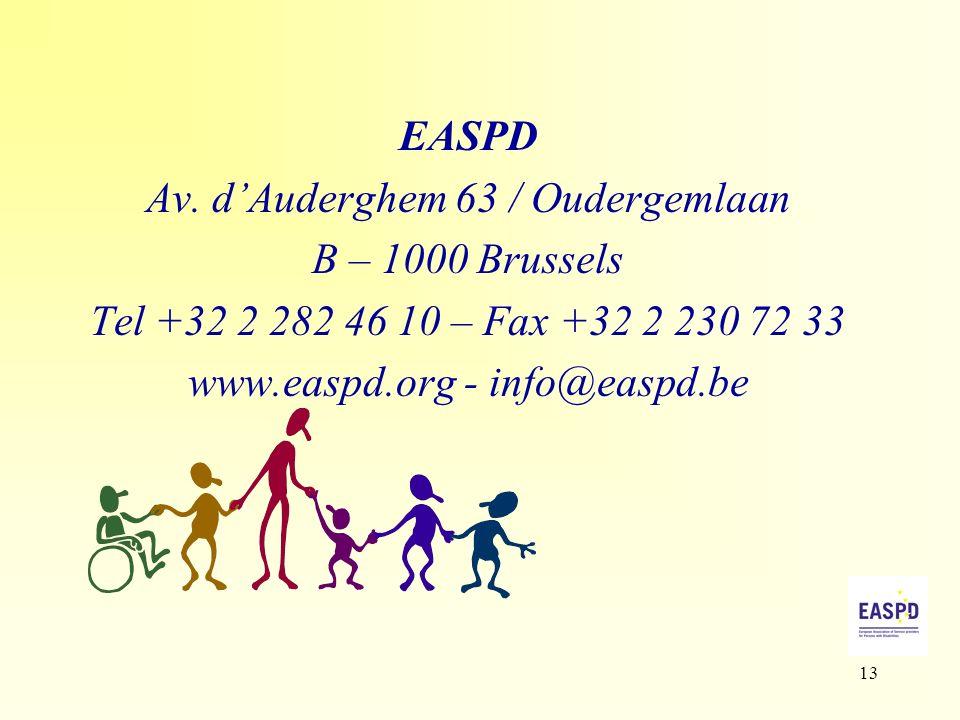 13 EASPD Av.