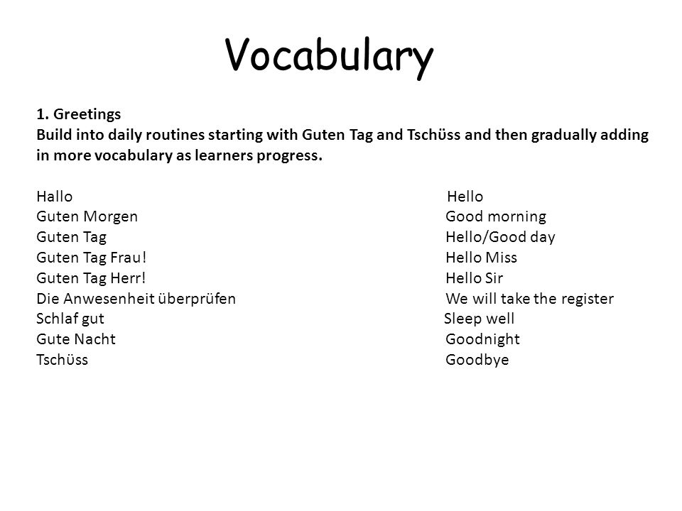 Vocabulary 1.