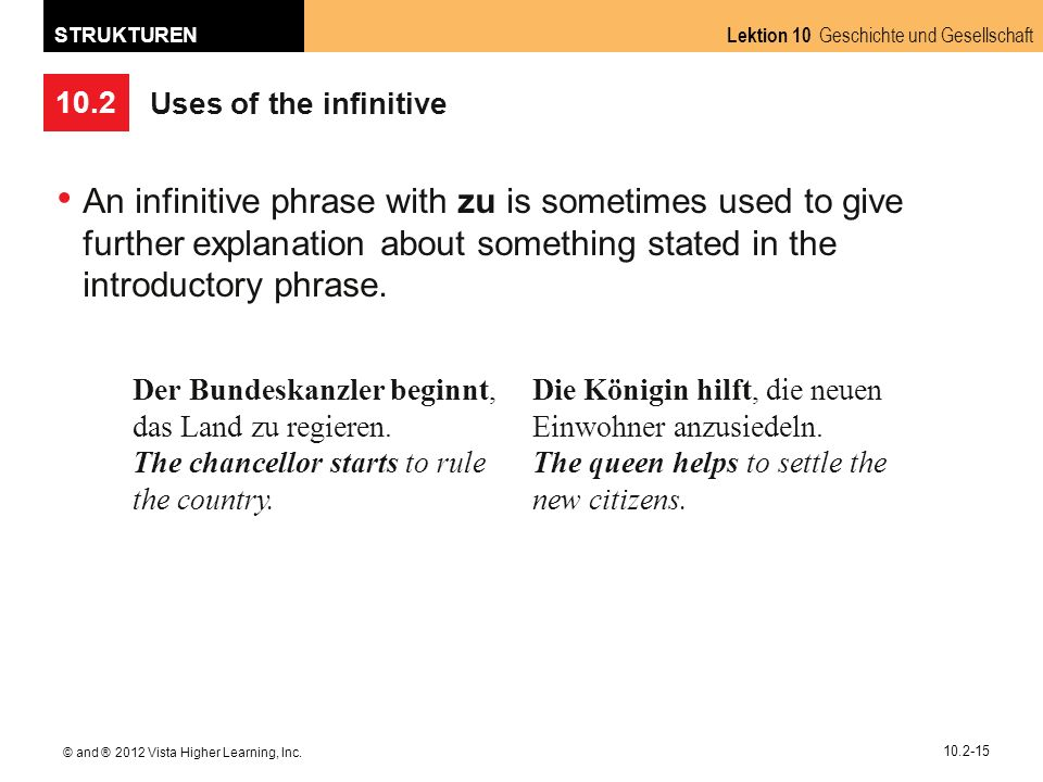 10.2 Lektion 10 Geschichte und Gesellschaft STRUKTUREN © and ® 2012 Vista Higher Learning, Inc.