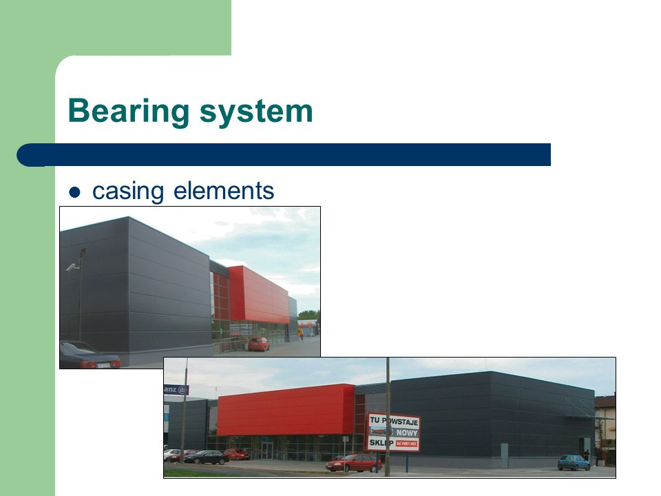 Bearing system casing elements