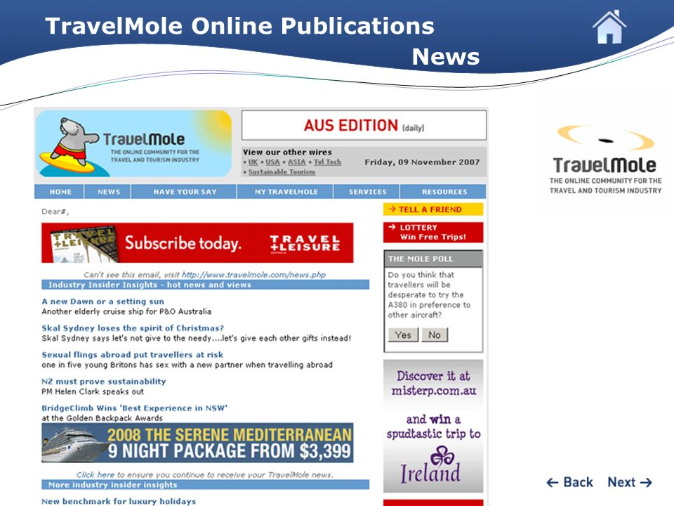 TravelMole Online Publications News
