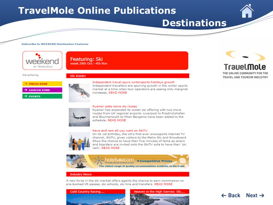 TravelMole Online Publications Destinations