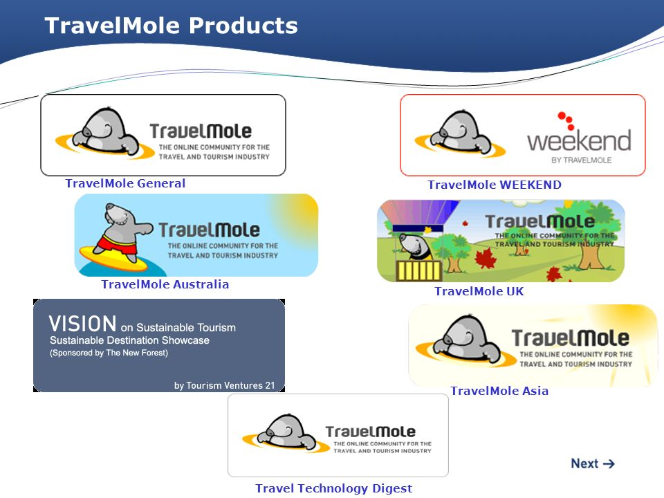 TravelMole Products TravelMole General TravelMole WEEKEND TravelMole UK TravelMole Asia TravelMole Australia Travel Technology Digest