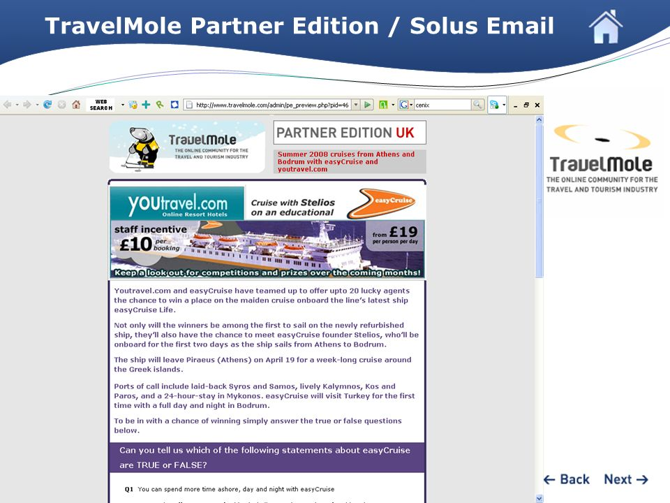 TravelMole Partner Edition / Solus Email
