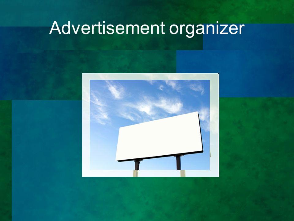 Advertisement organizer