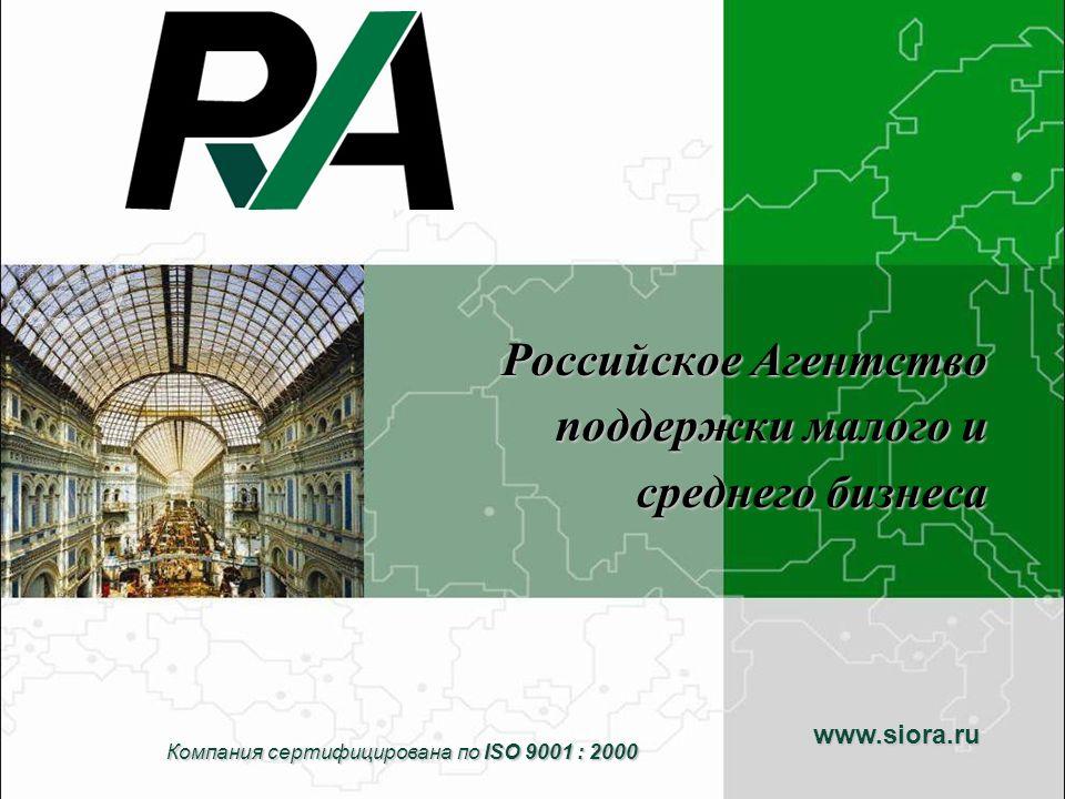 Российское Агентство поддержки малого и среднего бизнеса (далее РА) было создано в 1992 году по инициативе Правительства Российской Федерации и при содействии программы ТАСИС ЕС.