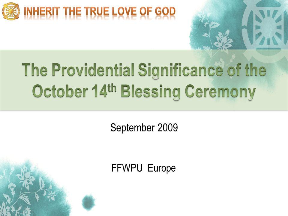 1 FFWPU Europe September 2009