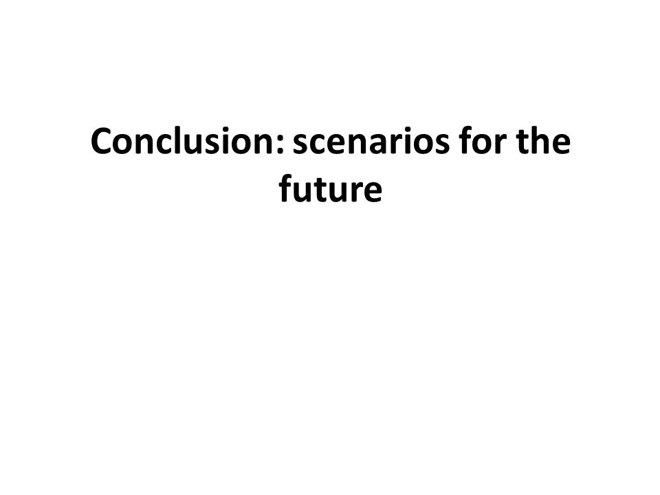 Conclusion: scenarios for the future