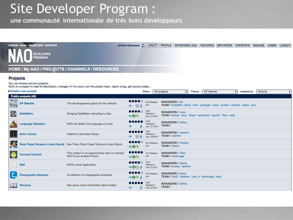 Site Developer Program : une communauté internationale de très bons développeurs