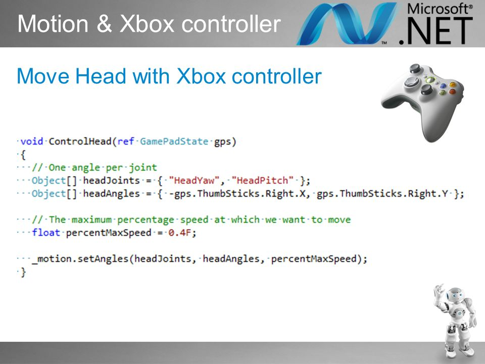 Motion & Xbox controller Move Head with Xbox controller