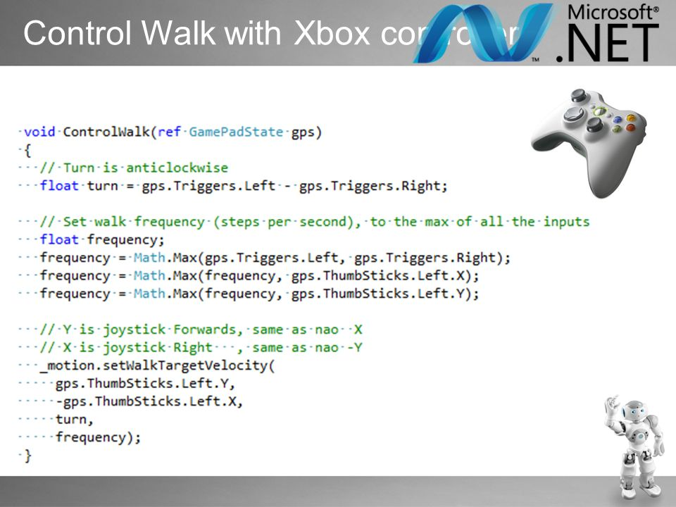 Control Walk with Xbox controller