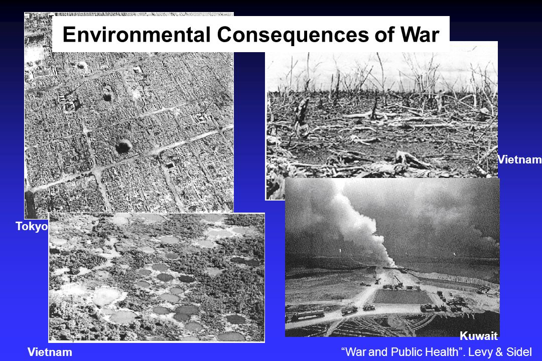 Tokyo Vietnam Kuwait War and Public Health. Levy & Sidel Environmental Consequences of War