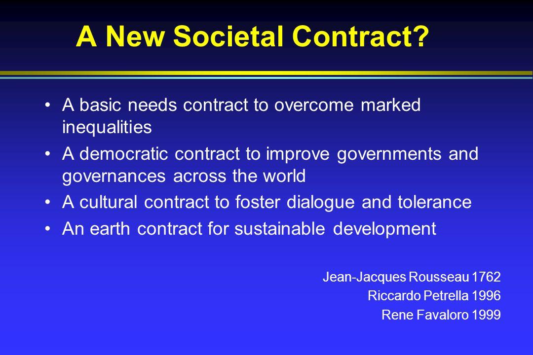 A New Societal Contract.
