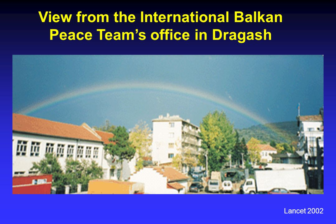 View from the International Balkan Peace Teams office in Dragash Lancet 2002
