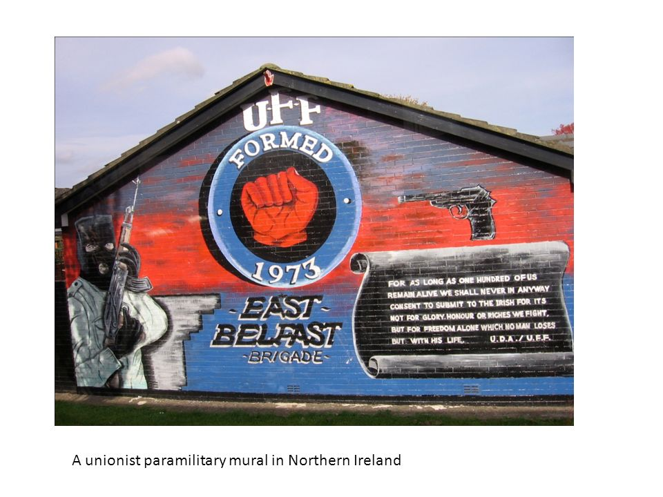 A unionist paramilitary mural in Northern Ireland