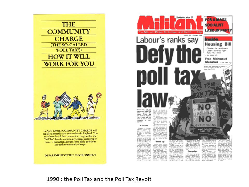 1990 : the Poll Tax and the Poll Tax Revolt