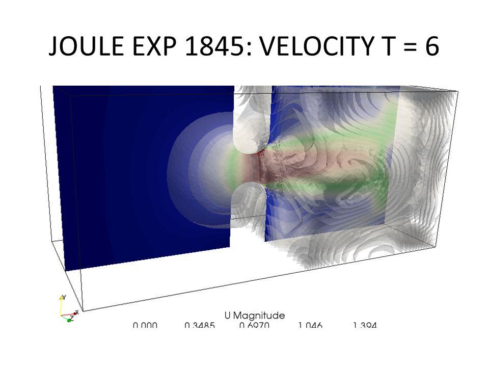 JOULE EXP 1845: VELOCITY T = 6