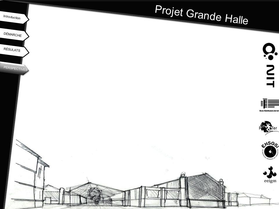 Projet Grande Halle DÉMARCHE Introduction RÉSULATS PERSPECTIVES