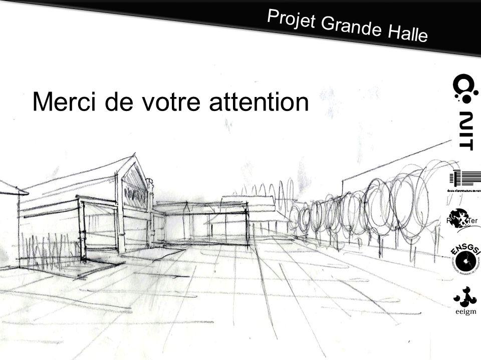 Projet Grande Halle Merci de votre attention