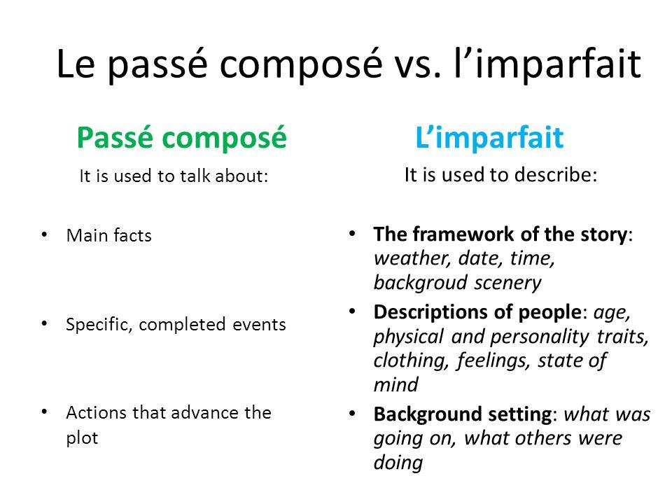 Le passé composé vs.