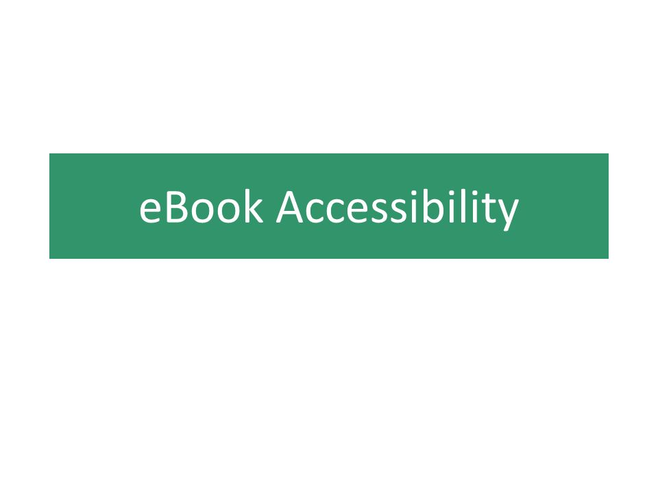 eBook Accessibility
