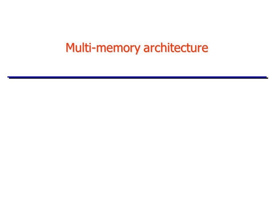 Multi-memory architecture