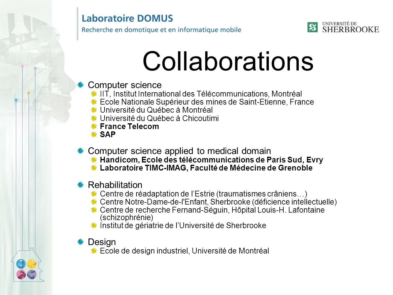 Collaborations Computer science IIT, Institut International des Télécommunications, Montréal Ecole Nationale Supérieur des mines de Saint-Etienne, Fra