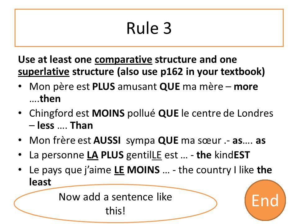 Rule 2 Use a variety of pronouns Tu fais souvent du vélo .