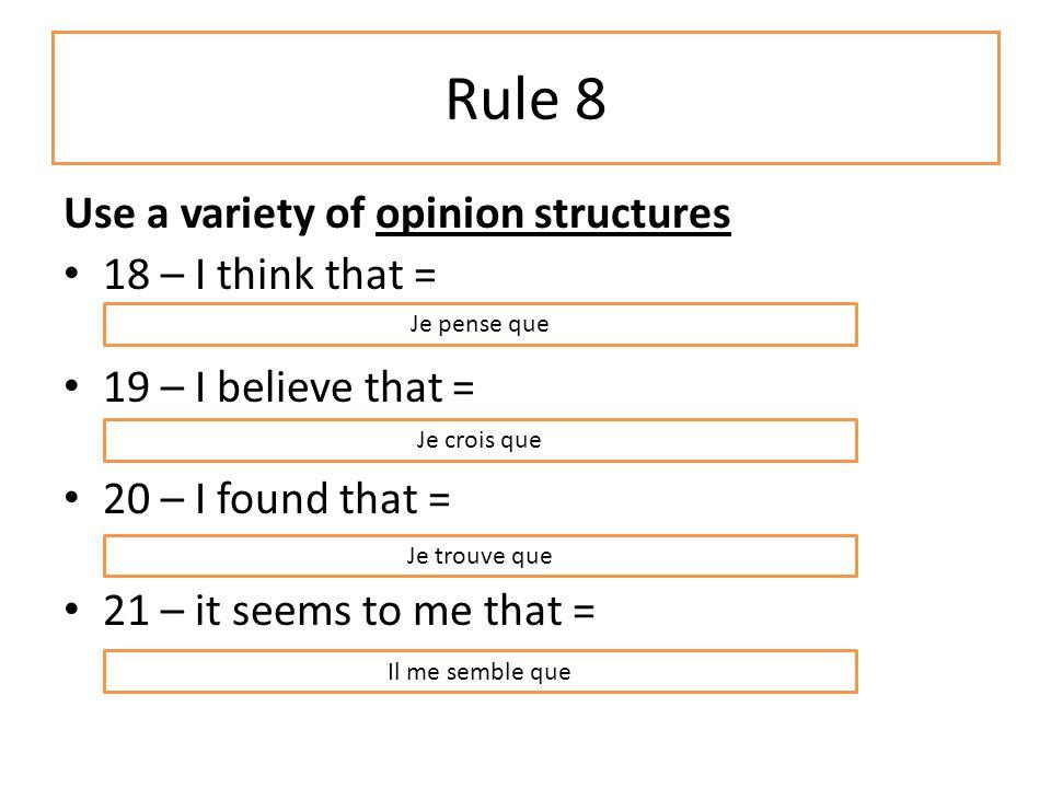 Rule 7 Use 1 or 2 exclamations. 13 – Quel désastre !/ Quelle catastrophe !.