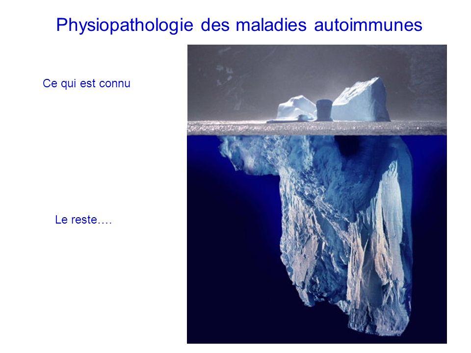 Physiopathologie des maladies autoimmunes Ce qui est connu Le reste….