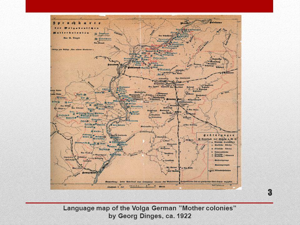 Language map of the Volga German Mother colonies by Georg Dinges, ca. 1922 3