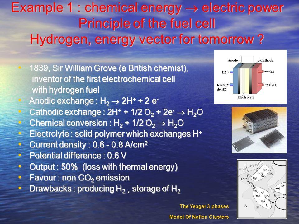Fuel cells Presented by André Savall, Professor at the University Paul Sabatier, Toulouse Presented by André Savall, Professor at the University Paul Sabatier, Toulouse Laboratoire de Génie Chimique, UMR 5503 CNRS/INP/UPS 31062 Toulouse Cedex 9, France PC25 Fuel Cell Power Plant Installation at Data Center in First National Bank of Omaha,Omaha, Nebraska UTC Fuel Cells was one of the first companies to incorporate fuel cells into buses Space Shuttle Lift Off-UTC Fuel Cells 12kW power plants provide electric power and drinking water for all space shuttle flights Installation of Five PC25 Fuel Cell Power Plants at Regional USPS Mail Sorting Center in Anchorage, Alaska