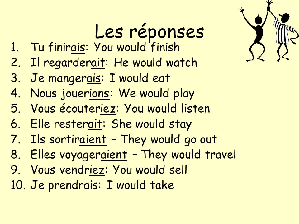 Les verbes irréguliers These verbs have a rule of their own.