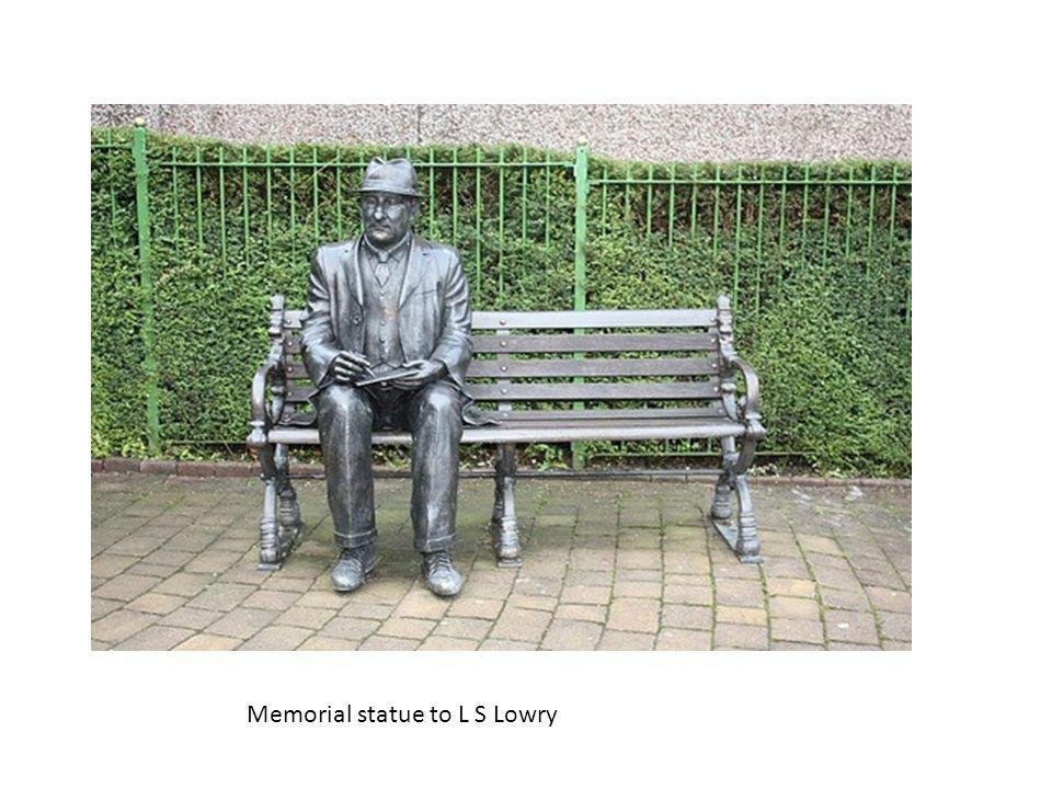 Memorial statue to L S Lowry