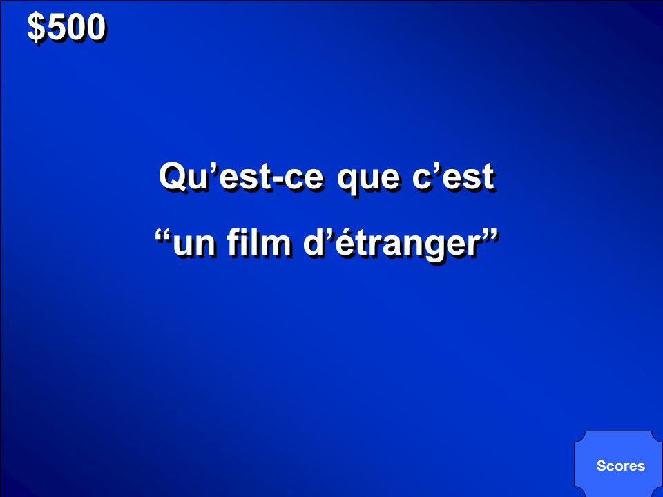 © Mark E. Damon - All Rights Reserved $500 Ce type of film est dorigine français, mais il est très populaire aux Etats-Unis.