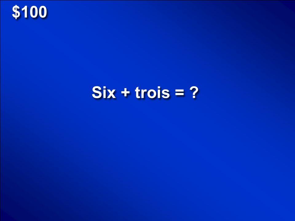 © Mark E. Damon - All Rights Reserved $500 Bonjour Madame(Monsieur)! Comment ça va? Scores