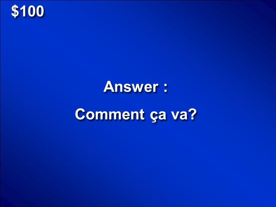 © Mark E. Damon - All Rights Reserved $100 Spell GARÇON en français, sil vous plaît!