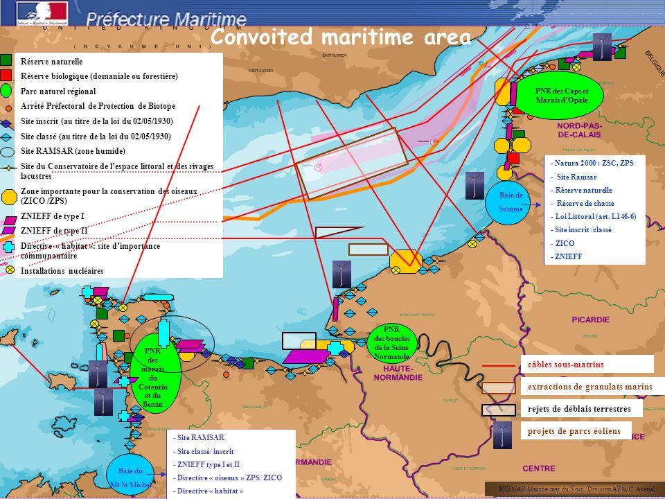 câbles sous-matrins extractions de granulats marins projets de parcs éoliens rejets de déblais terrestres