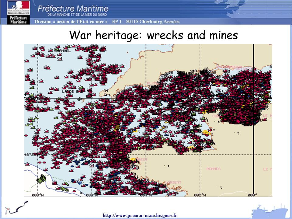 War heritage: wrecks and mines