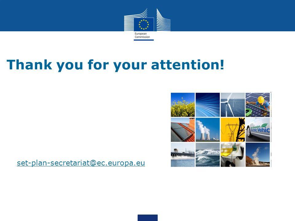 Thank you for your attention! set-plan-secretariat@ec.europa.eu