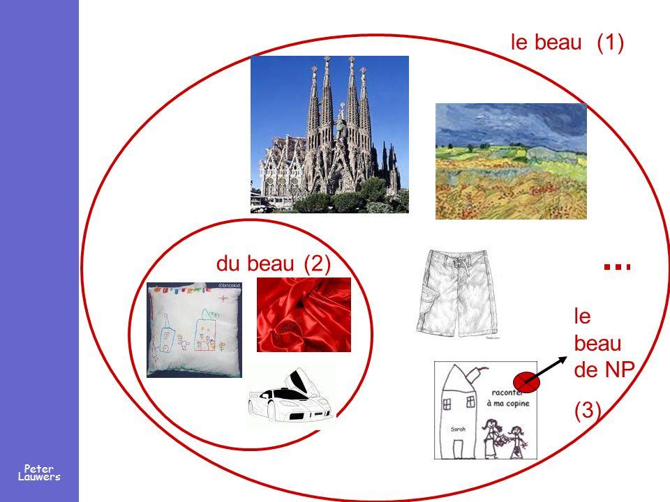 Peter Lauwers le beau de NP (3) le beau (1) du beau (2)