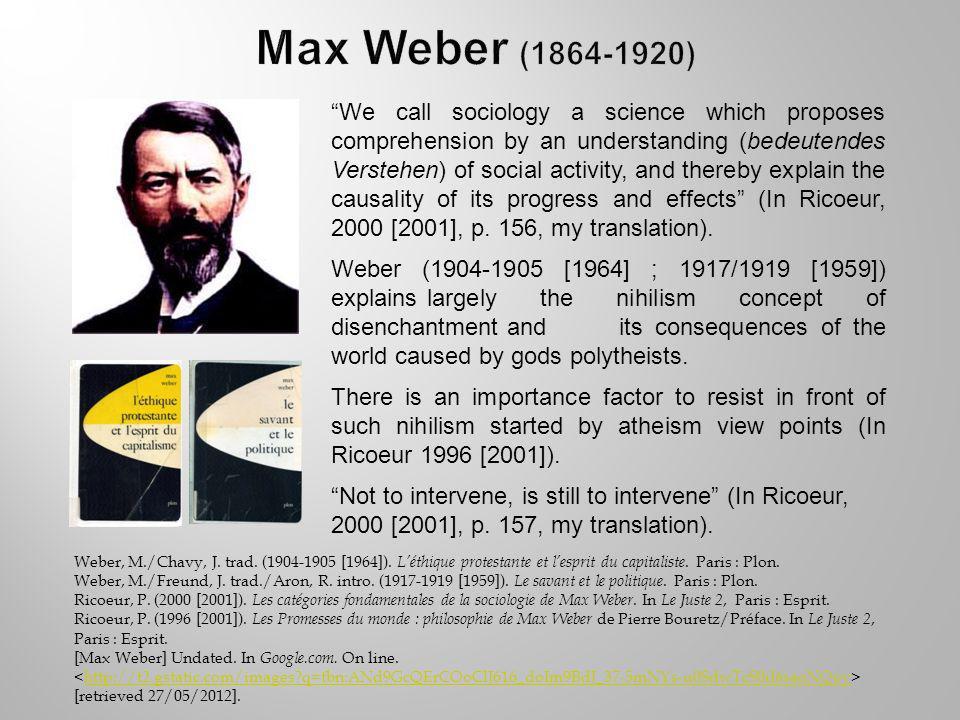 Weber, M./Chavy, J. trad. (1904-1905 [1964]). Léthique protestante et lesprit du capitaliste.