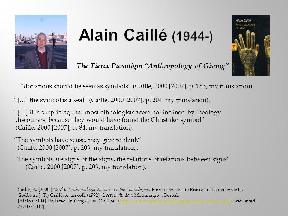 Caillé, A. (2000 [2007]). Anthropologie du don : Le tiers paradigme.