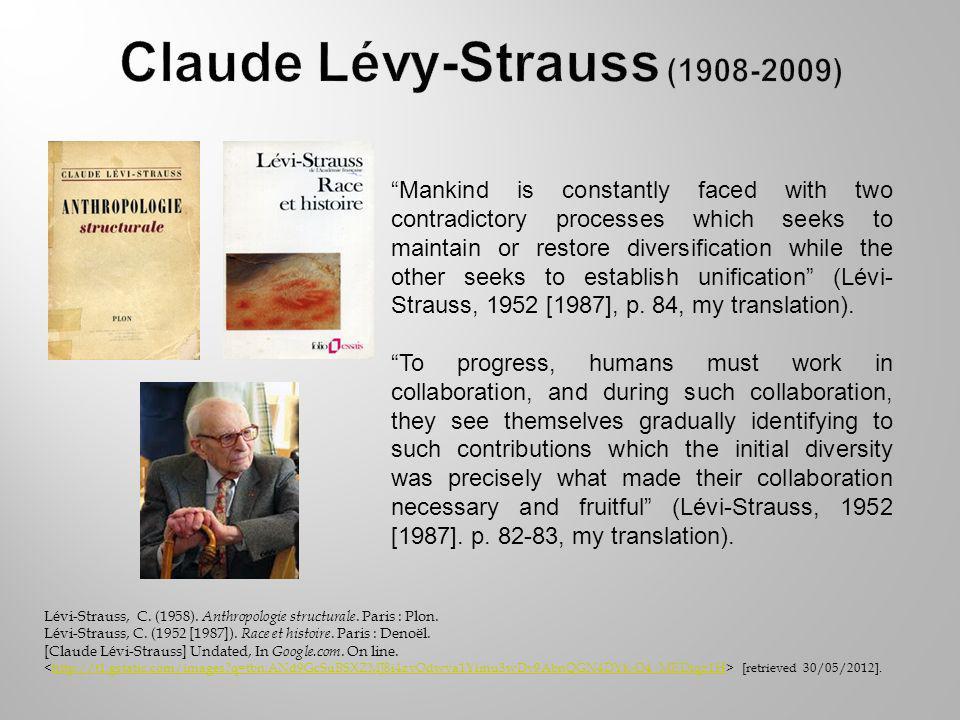 Lévi-Strauss, C. (1958). Anthropologie structurale.