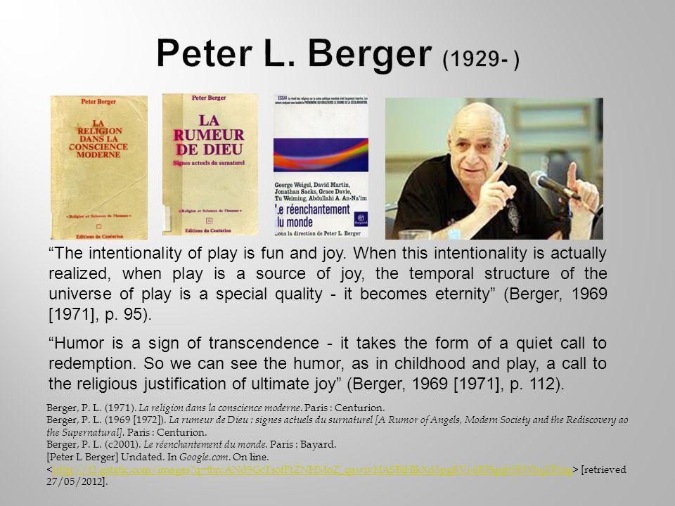 Berger, P. L. (1971). La religion dans la conscience moderne.
