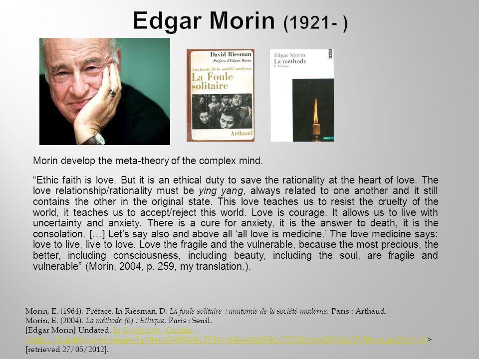 Morin, E. (1964). Préface, In Riesman, D. La foule solitaire : anatomie de la société moderne.