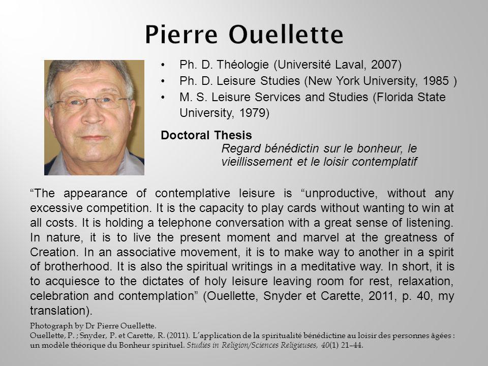 Ph. D. Théologie (Université Laval, 2007) Ph. D.