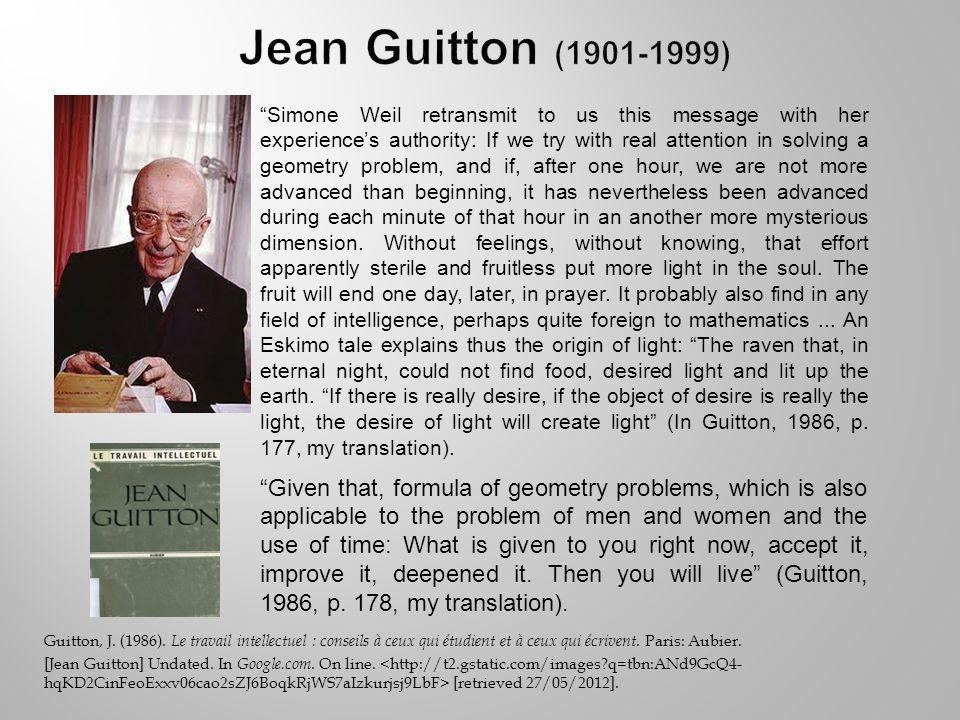 Guitton, J. (1986). Le travail intellectuel : conseils à ceux qui étudient et à ceux qui écrivent.